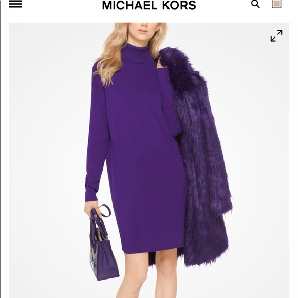 abc8890717c NWT Michael kors purple turtleneck sweater dress